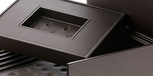 Coated wooden boxes